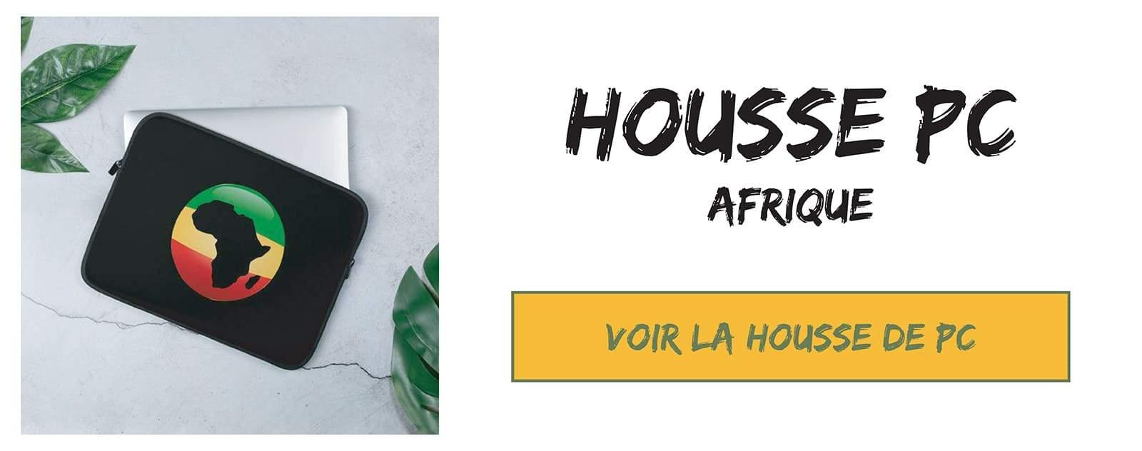 Housse de protection pour ordinateur logo afrique