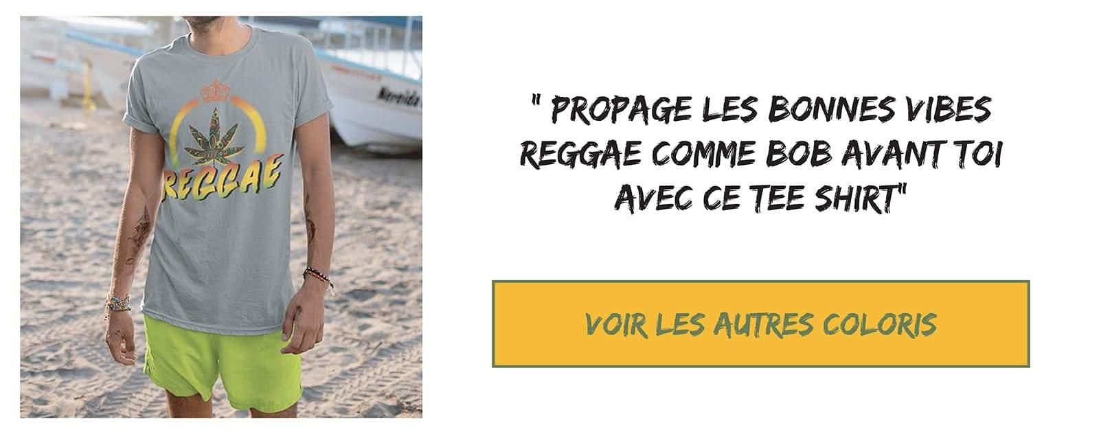 Tee shirt rastafari reggae
